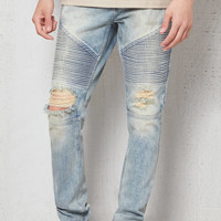 PacSun Stacked Skinny Moto Destroyed Stretch Jeans at PacSun.com