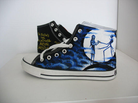 Custom Converse Nightmare Before From Michellehandpainted
