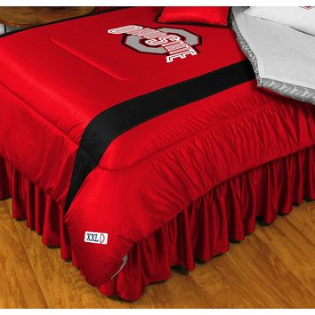 Ohio State Buckeyes Comforter - Full/Queen (Red)
