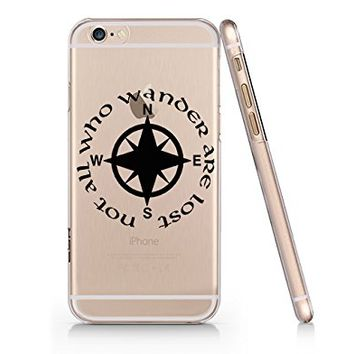 """Not All Who Wander Are Lost"" Text Quote Clear Transparent Plastic Phone Case for Iphone 6 6s_ SUPERTRAMPshop (iphone 6)"