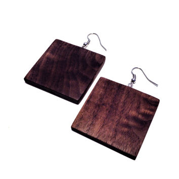Black Walnut Wood Earrings