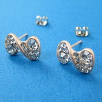 SALE - Bow Tie Infinity Loop Stud Earrings