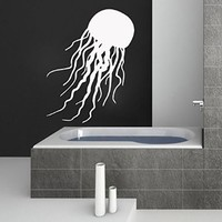 Jellyfish Decal Vinyl Sticker Wall Decals For Bathroom Window Baby Nursery Bedroom Home Decor Interior Design Art Murals MN724