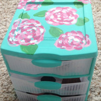 Lilly pulitzer inspired storage drawers