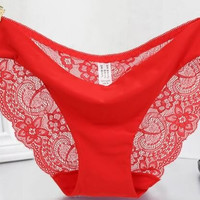FLASH SALE -Red Lace Panties Super Cute,You must have! All sizes