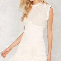 Nasty Gal Crew Intentions Sheer Dress
