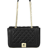 Love Moschino - Quilted Faux Leather Shoulder Bag - Saks Fifth Avenue Mobile