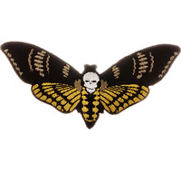 Death Head Moth Iron-On Patch