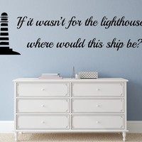 Jesus Is The Lighthouse Vinyl Wall Decal Lighthouse Decal Handmade Vinyl Wall Art Custom Orders Custom Vinyl Decals Custom Art
