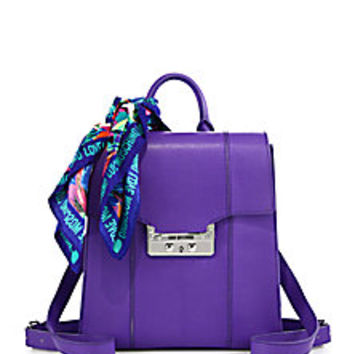 Love Moschino - Scarf-Accented Faux Leather Backpack - Saks Fifth Avenue Mobile