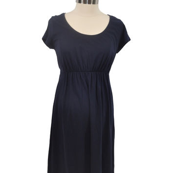 Navy Blue Short Sleeve Dress by Old Navy