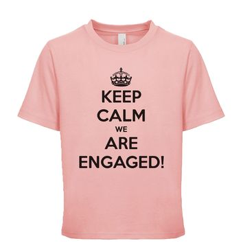 Keep Calm We Are Engaged Unisex Kid's Tee