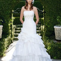 Casablanca Bridal 2034 Ruffle Skirt Wedding Dress