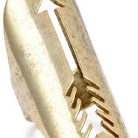 House of Harlow 1960 Gold-Plated Long Arrow Ring, Size 6