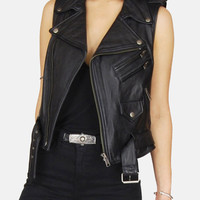 Livin' Is Easy Buttery Soft Leather Moto Vest