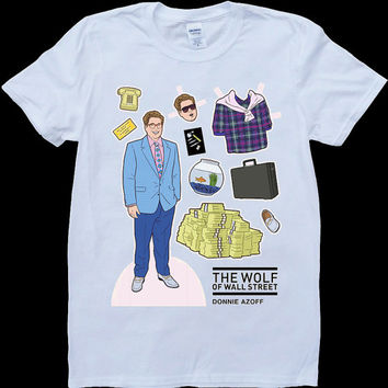Tribute to Wolf of Wall Street Donnie Azoff Man llustrated Men's White T Shirt
