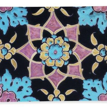 An Ottoman Iznik Style Floral Design Pottery Polychrome, By Adam Asar, No 13j - Bath Towel