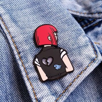 Heartbreak Girls Enamel Pin