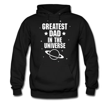 GREATEST FATHER IN THE UNIVERSE WHITE PRINT hoodie sweatshirt tshirt