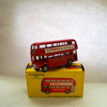 Vintage Budgie  AEC Routemaster Double Decker Toy Bus Number 236  With Windows Die Cast 1960s