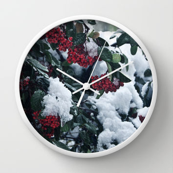Winter and snow Wall Clock by VanessaGF | Society6