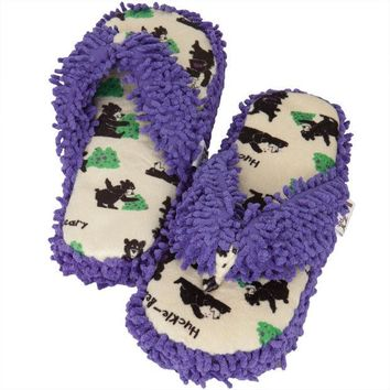 LMFCY8 Bear Huckle-Beary Women's Spa Slippers