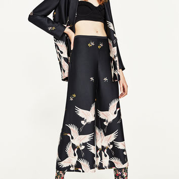 PRINTED CULOTTES DETAILS
