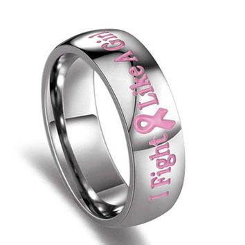 """Breast Cancer Awareness Pink """"I Fight Like A Girl"""""""
