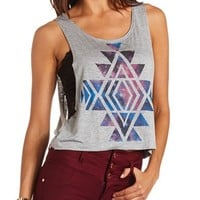 SLASHED BACK GRAPHIC TANK