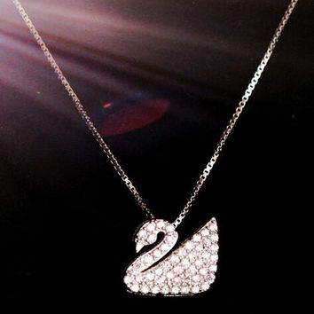 womens Swan necklace gift 63