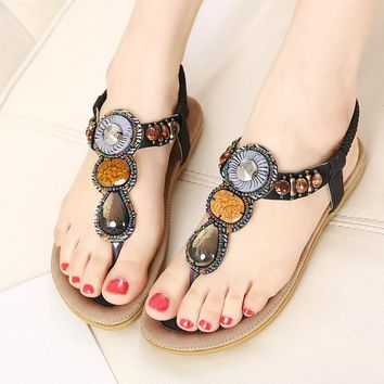 NEW ARRIVALS summer sandals  fashion female string bead