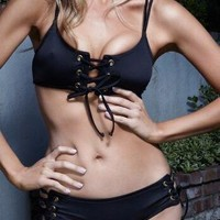 Swimsuit Summer Beach Hot Sexy New Arrival Swimwear Black Bikini [8678835213]