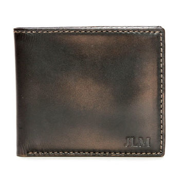 JACK DOUBLE I.D.  Bifold Wallet -  Men's Wallet - PERSONALIZED Leather Wallet - Men's Gifts