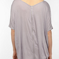 Silence & Noise Oversized Zip-Back Tee