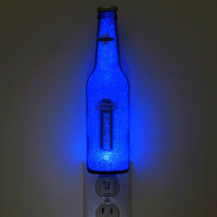 "Bud Platinum Jumbo Night Light / Accent Lamp- VIDEO DEMO-  Eco LED...""Diamond Like"" Glass Crystal Coating on interior"