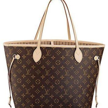 LMFON Tagre? LV Louis Vuitton Neverfull MM Monogram Canvas Handbag Shoulder Bag Tote Purse