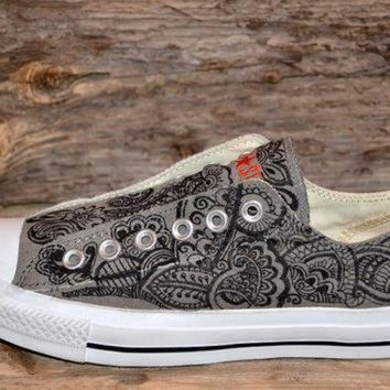 QIYIF paisley floral converse all stars adult size
