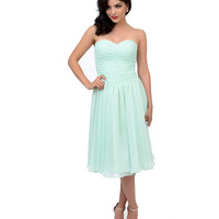 Preorder -  Iconic by UV Green Swiss Dot Sweet as Mint Pie Swing Dress