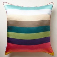 Silk Pantone Pillow by Anthropologie Multi 22 In. Square Pillows