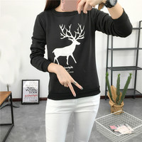 Hoodies For Women tracksuit for women Deer shirt printing Korean fall and winter clothes hoody svitshot bts women's hoodies EXO