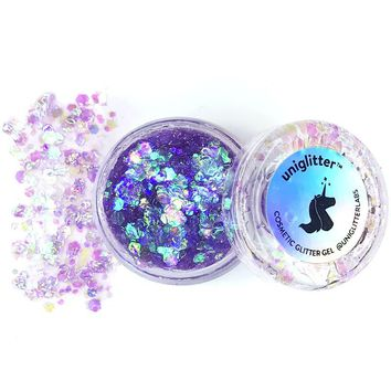 Face Glitter in Purple Iridescent