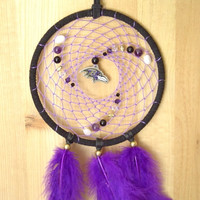Custom Baltimore Ravens 5-inch Native American Dreamcatcher
