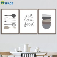 Cartoon Kitchen Ware Quotes Nordic Poster Wall Art Canvas Painting Posters And Prints Pop Art Wall Pictures For Kitchen Decor