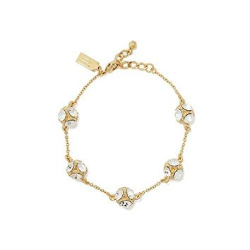 Kate Spade New York Lady Marmalade Bracelet, Clear / Gold