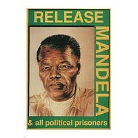 Release MANDELA & ALL POLITICAL PRISONERS POSTER South Africa 1989 24X36