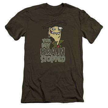 Ed Edd N Eddy - Brain Dead Ed Premium Canvas Adult Slim Fit 30/1 Shirt Officially Licensed T-Shirt