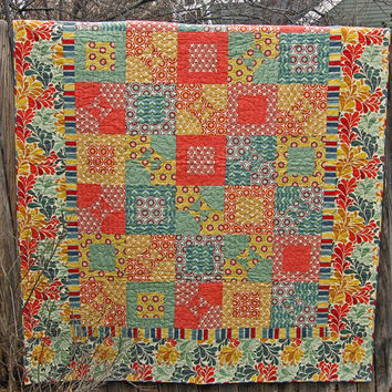 Summer Cottage Chic Twin/Full Coverlet or Oversized Throw Quilt