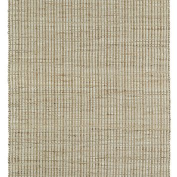 Diamond Boarder Rug in Jute + Felted Wool - Ivory