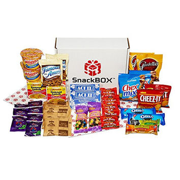 Care Package for College Students, Military, Birthday, Mother's Day, Father's Day, or Back to School (40 Count) From Snack Box