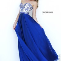 Sherri Hill 1947 Strapless Chiffon Prom Dress